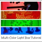 Pimp My Light Box! {Multi Colored DIY Light Box Tutorial}