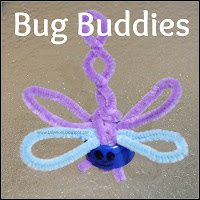 Dragonfly insect finger puppet made from pouch lid