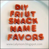 DIY Fruit Snack Name Party Favors