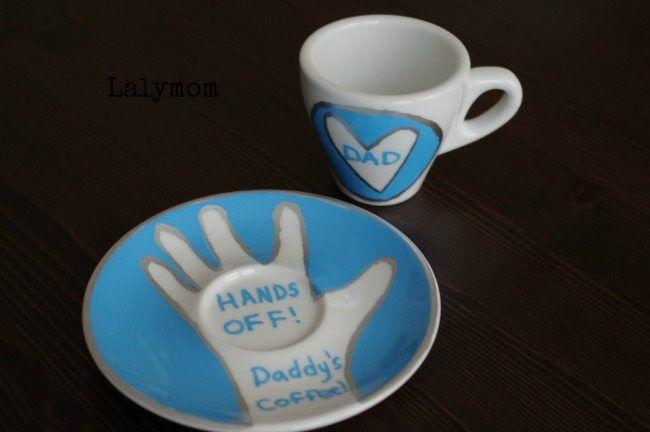 Personalized Father's Day Gifts - Father's Day Mug Set - Hands Off Daddy's Coffee