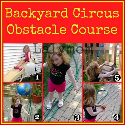 Easy Backyard Obstacle Course for Kids Gross Motor Backyard Lalymom