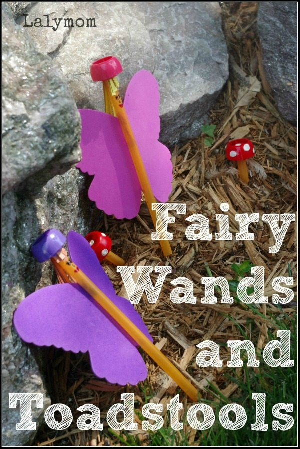 Cute Fairy Wands and Toadstools Craft for Kids by Lalymom