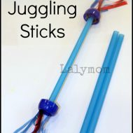 DIY Kids Juggling Sticks Set