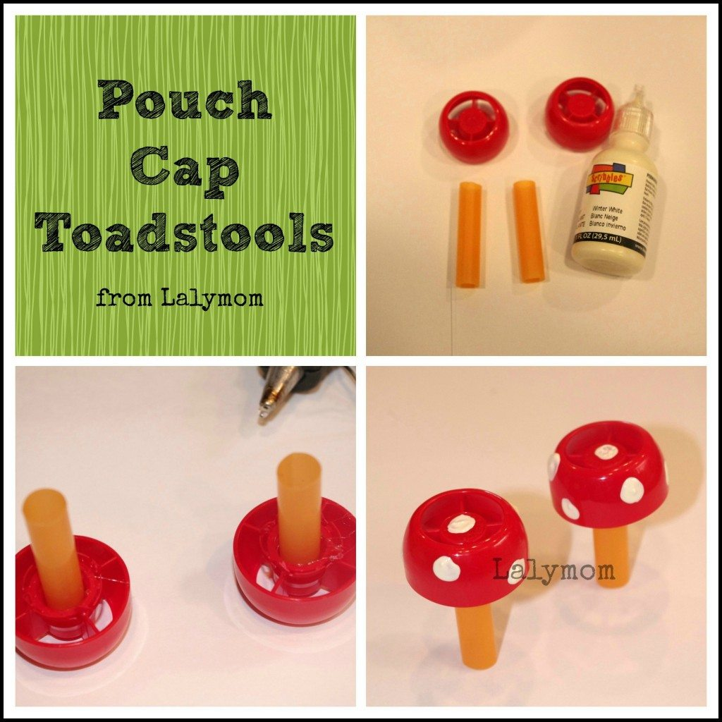 DIY Pouch Cap Toadstools from Lalymom