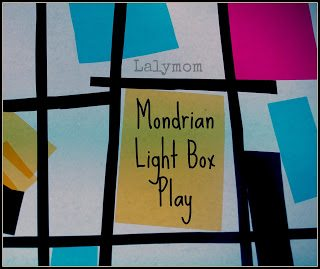 mondrians for kids light box play