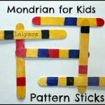 Mondrian Pattern Sticks