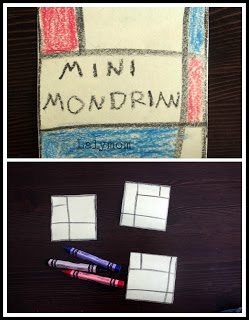 mondrian for kids post it note art project