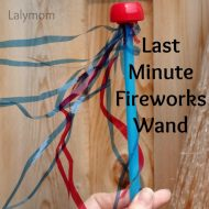 Make a Fireworks Wand as a Last Minute 4th of July Craft