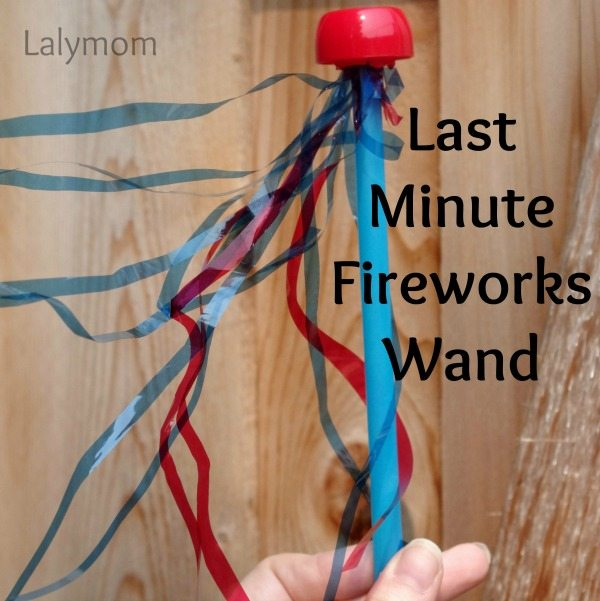 Pouch Cap Crafts for Kids - Last Minute Fireworks Wand from Lalymom