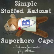 Simple Stuffed Animal Superhero Cape
