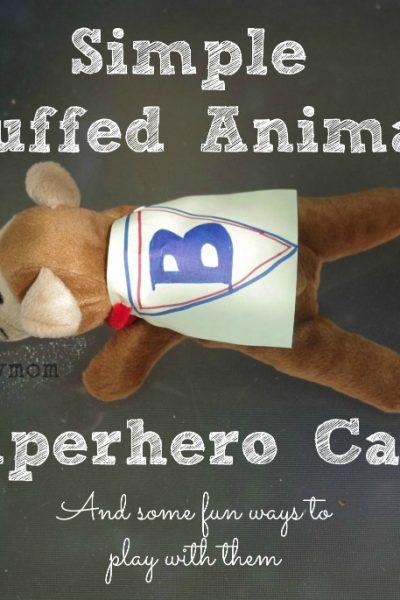Simple Stuffed Animal Superhero Cape