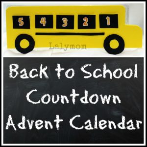 Back to School Countdown Craft Advent Calendar Using an Egg Carton from Lalymom.com