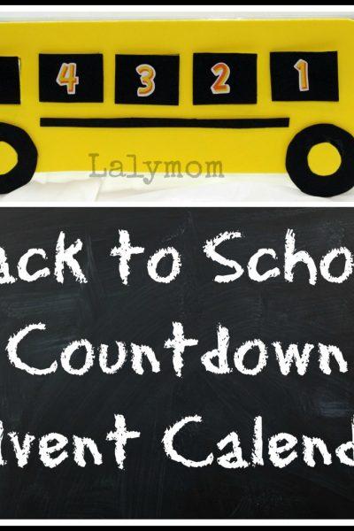 Back to School Countdown Calendar Craft