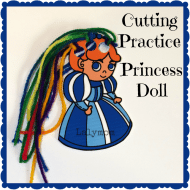 Cutting Practice Princess Doll
