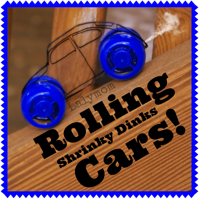 DIY Rolling Car and Truck Toys with Shrink Film from lalymom
