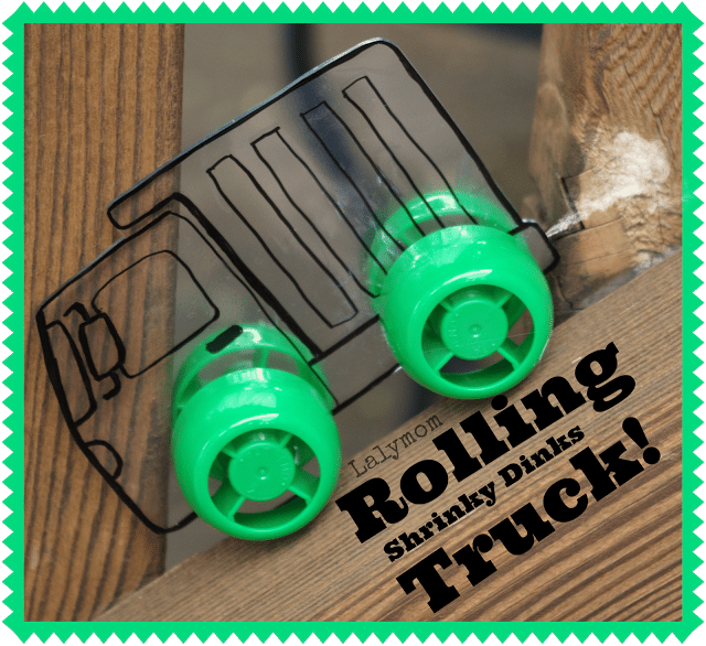 DIY Rolling Truck Toys with Shrinky Dinks from Lalymom