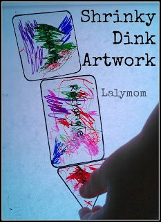 Shrinky Dinks Artwork in I-Spy Bottle or on the Light Box from Lalymom