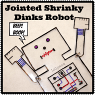 Shrinky Dinks Jointed Robot