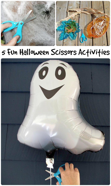 5 Fun Halloween Scissor Activities - great cutting practice ideas for kids!