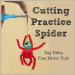 Cutting Practice Spider great scissors activity for preschoolers! So fun!