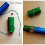 DIY Cardboard Fishing Pole for Kids