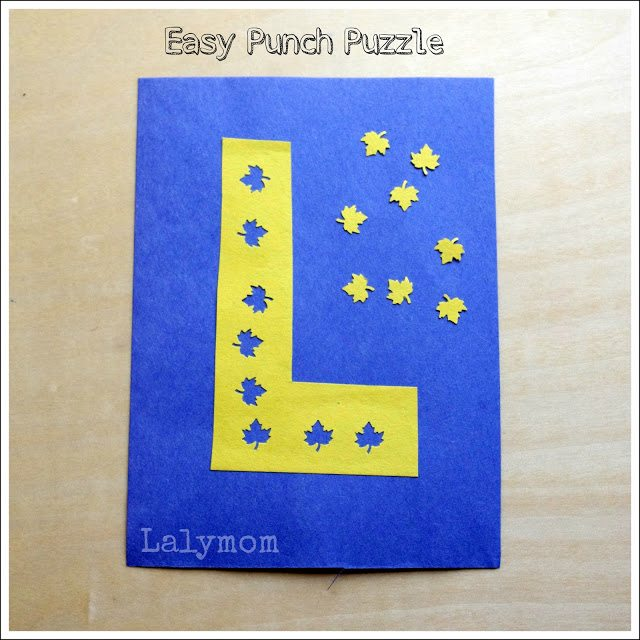 Easy DIY Fall Fine Motor Alphabet Puzzle from Lalymom