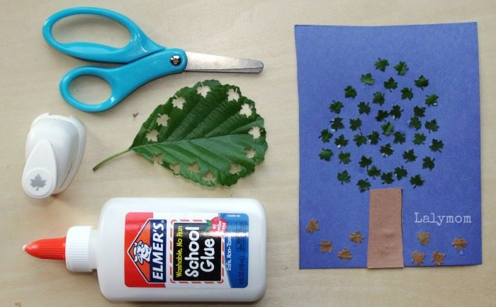 Fall Leaves Art Project for Preschoolers from Lalymom- Check out all 7 fall themed art projects. So fun for the kids to use scissors and paper punches!
