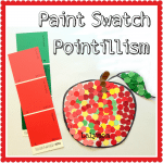 Paint Swatch Pointillism Art Project for Kids from Lalymom.com #EarlyEd #ArtForKids