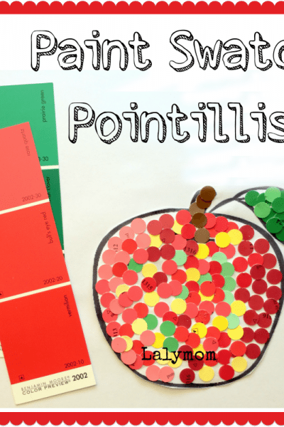 Paint Swatch Pointillism Art Project for Kids