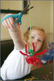 Preschool Scissor Practice Activity with Cutting Practice Spider from Lalymom