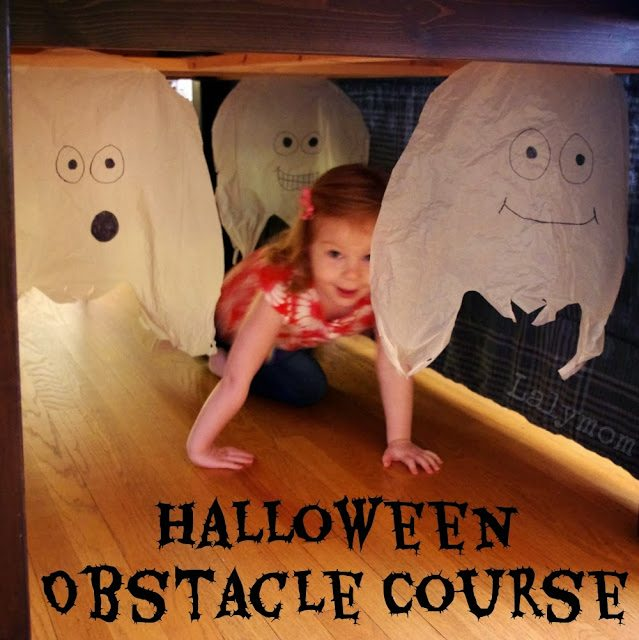 Easy Indoor Halloween Obstacle Course for Kids