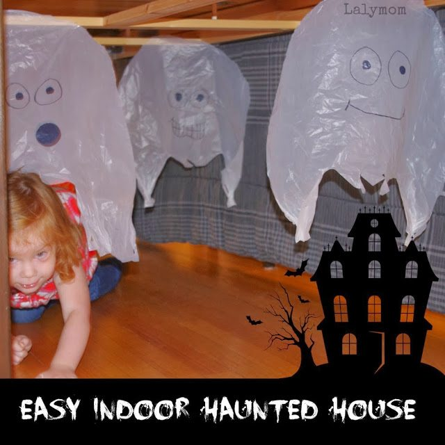 Non-scary Haunted House for kids for Halloween Obstacle Course from Lalymom