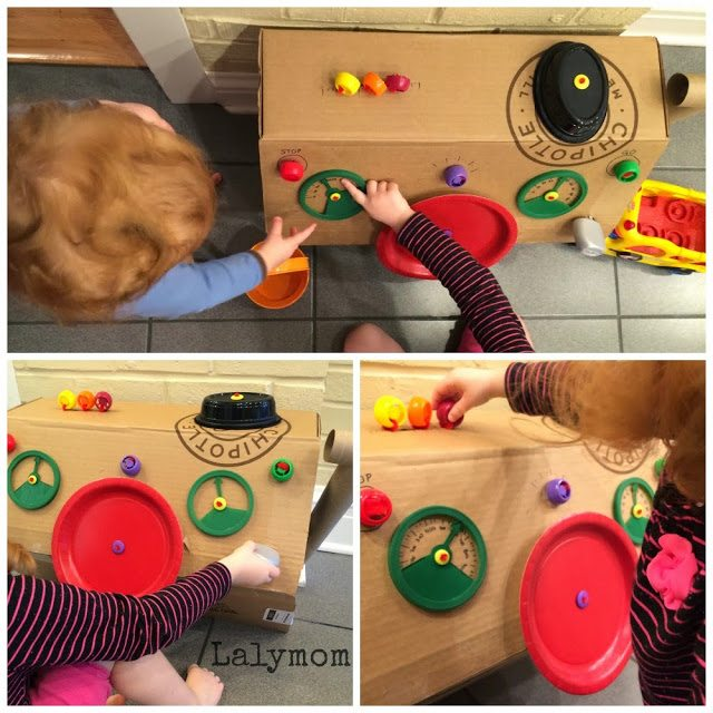Details of our homemade dashboard for Fine Motor Skills Development from Lalymom