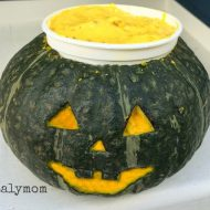 Kabocha Squash Frozen Yogurt Halloween Recipe