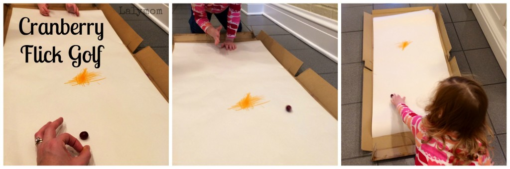 Thanksgiving Finger Flick Game for Fine Motor Development in Kids from Lalymom