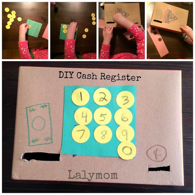 DIY Cardboard Cash Register for Fine Motor Skills for Preschoolers from Lalymom