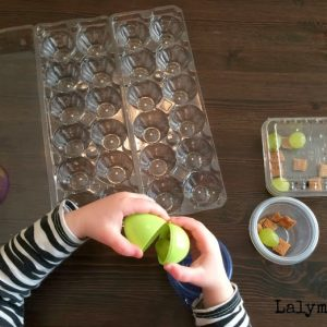 Snack Hunt Fine Motor Activity for Kids
