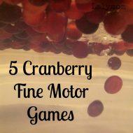 Cranberry Fine Motor Games (Fine Motor Fridays)