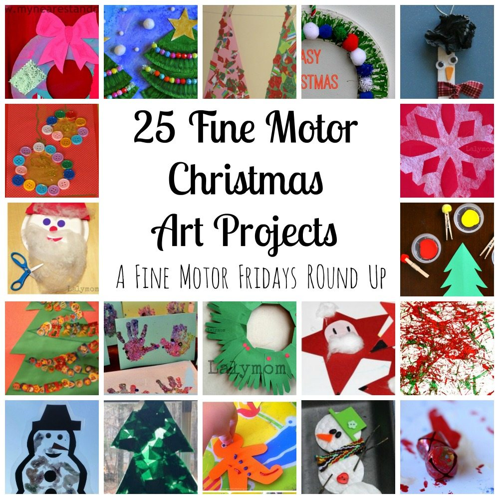 25 Fine Motor Christmas Art Projects For Kids From Lalymom Fridays MEGA Roundup