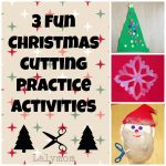 3 Fun, Low Prep Christmas Cutting Practice Activities for Kids from Lalymom