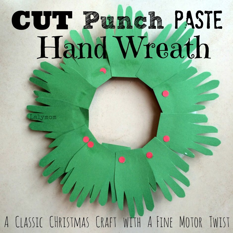 Wreath Crafts For Kids Part - 37: Christmas Crafts For Kids - Handprint Wreaths - LalyMom