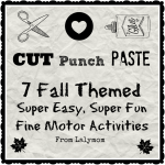 Fall Themed Fine Motor Activities with Cutting Paste and Punch from Lalymom