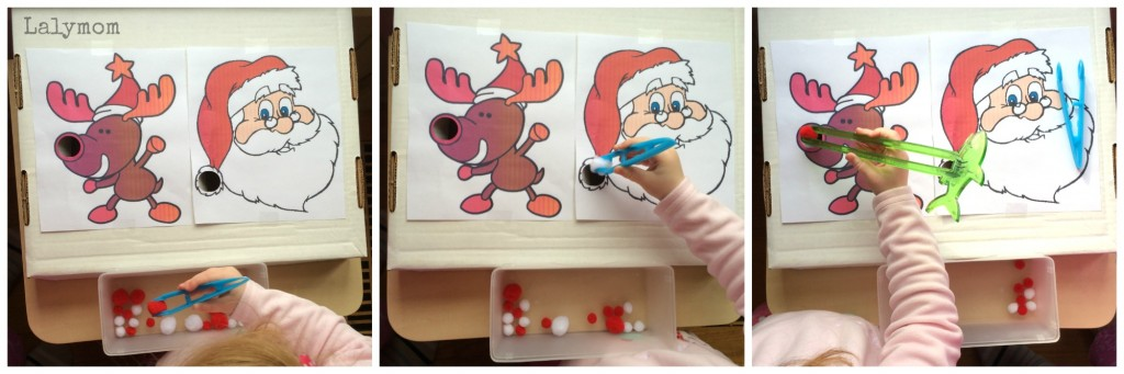 Preschool Skills Christmas Game from Lalymom