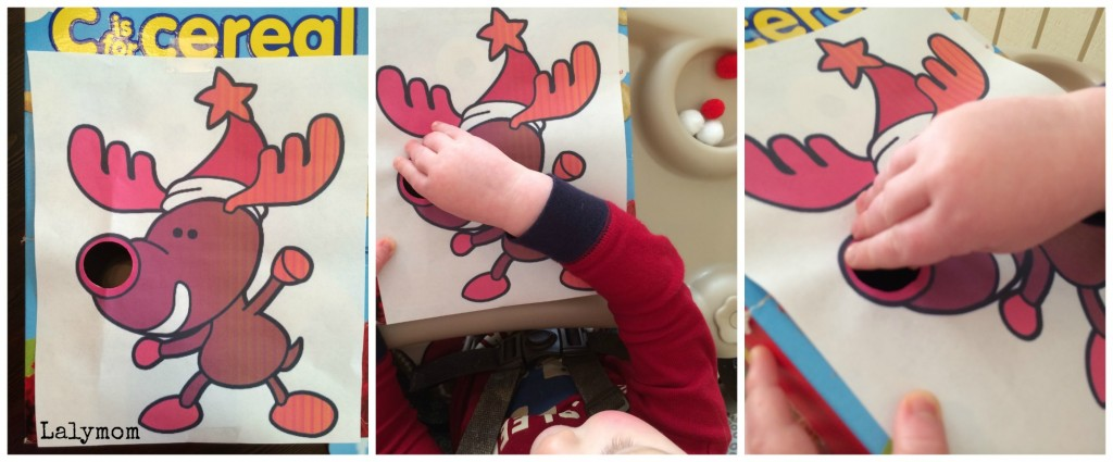 Fine Motor Christmas Game for Toddlers from Lalymom