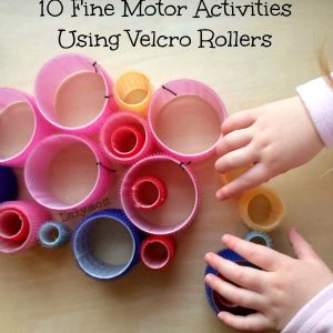 Fine Motor Skills Activities Using Velcro Rollers- Fine Motor Fridays