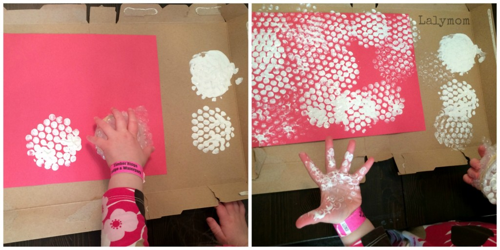 Bubble Wrap Stamping Tooth Fairy Castle from Lalymom
