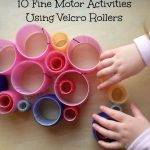 Fine Motor Skills Activities Using Velcro Rollers from Lalymom