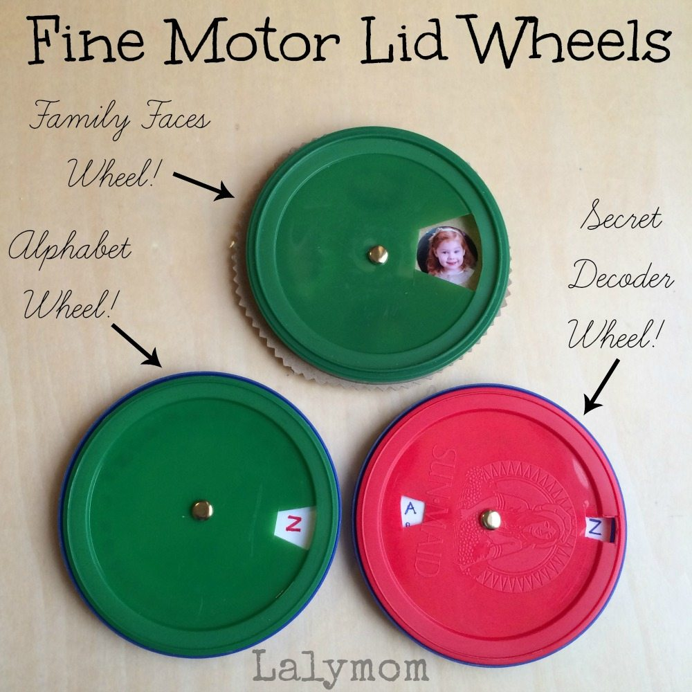 Fine Motor Skills Wheel Toys from Lalymom