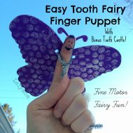 Tooth Fairy Finger Puppet and Tooth Castle Craft-Fine Motor Fridays