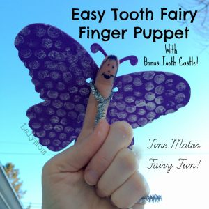 Tooth Fairy or Butterfly Finger Puppet- Great for Birthday Party Favor- from Lalymom